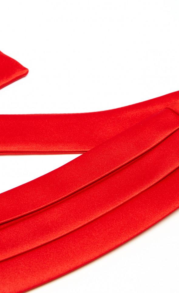 Съемный пояс камербант красный